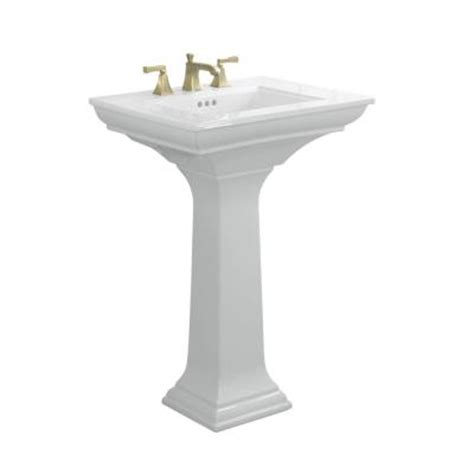 kohler memoirs pedestal bathroom sink with stately design