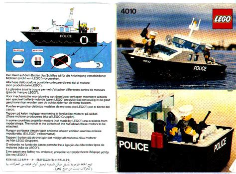 Lego White Boat Hull by Lego Police Rescue Boat Instructions 4010 Boats