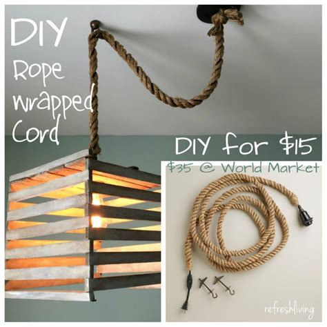 Swag Lamp Kit Home Depot by Diy Pendant Cord Refresh Living