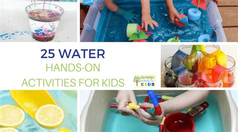25 water on activities for growing on 297 | 25 water hands on activities for kids FB