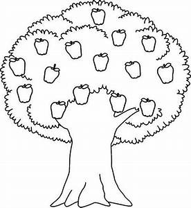 Printable Tree Coloring Pages apple tree coloring pages