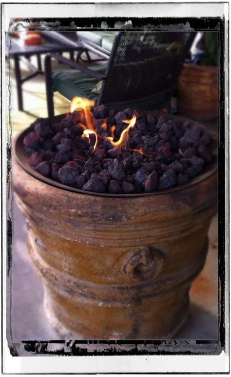 Fire Pit Made From A Flower Pot !!  Now Entering The