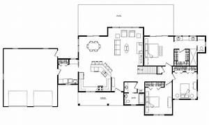 open floor ranch house open concept ranch floor plans log With open floor plan home designs
