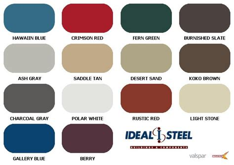 steel color color chart ideal steel