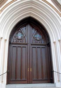 gothic style double entry church doors monarch custom doors With church double doors