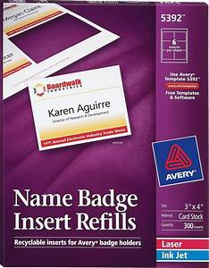 averyr name badge inserts 5392 avery online singapore With avery clip style name badges 74461