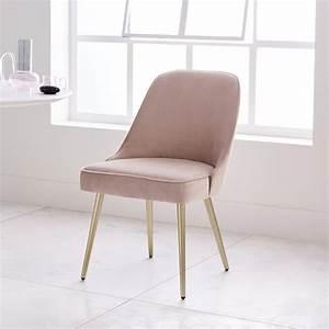Mid-Century Velvet Dining Chair west elm