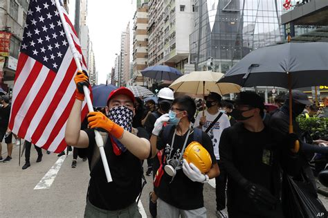 protesters return  hong kong streets  anti government march voice  america english