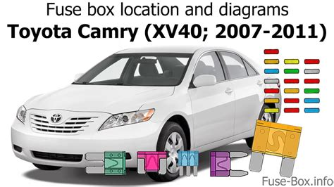fuse box location  diagrams toyota camry xv