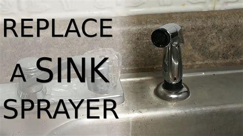 replace  sink sprayer youtube