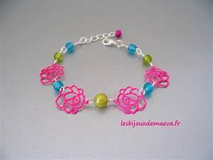 bracelet fantaisie enfant fushia turquoise et vert lilou With bijoux fantaisie enfant