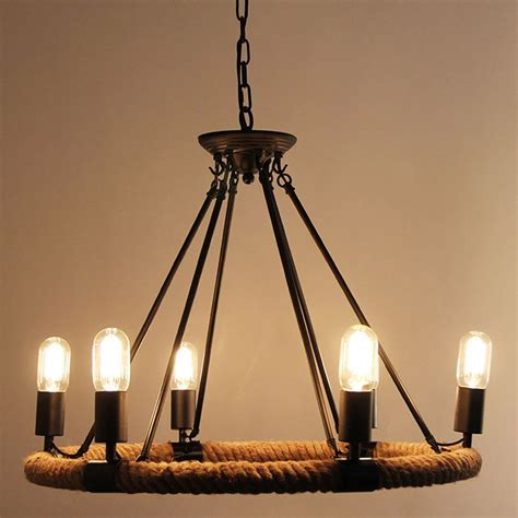 country style hanging light fixtures american retro pendant l creative pastoral rustic