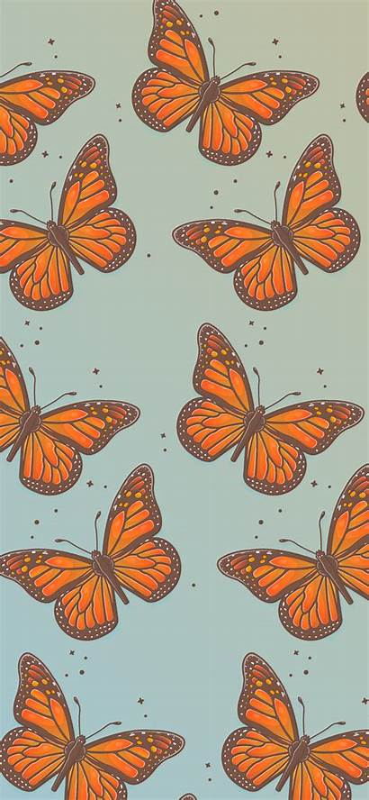 Butterfly Pattern Aesthetic Wallpapers