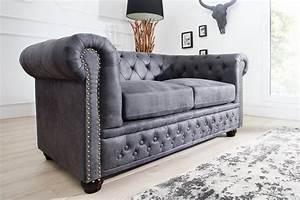 Chesterfield 2er Sofa : sofa chesterfield 2er grau antik look 37390 5527 ~ Sanjose-hotels-ca.com Haus und Dekorationen