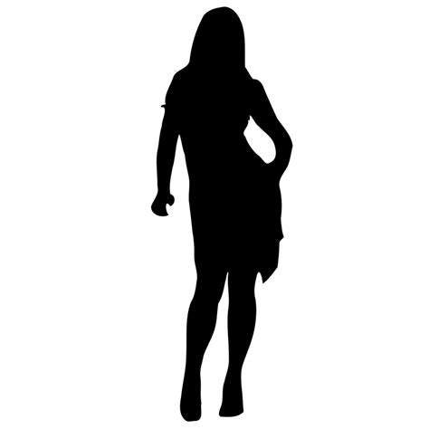 Filewoman Silhouette 53svg  Wikimedia Commons