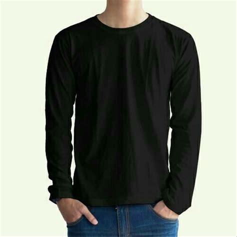 Kaos Polos Cotton Combad jual kaos polos lengan panjang cotton combed 30s hitam dan