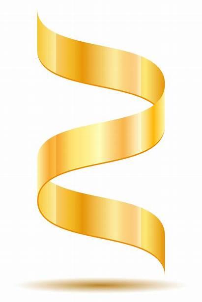 Gold Ribbon Vector Illustration Realistic Vecteezy Graphics