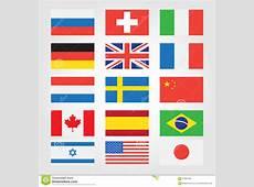 Vlaggen Van Landen Rond De Wereld Vector Illustratie
