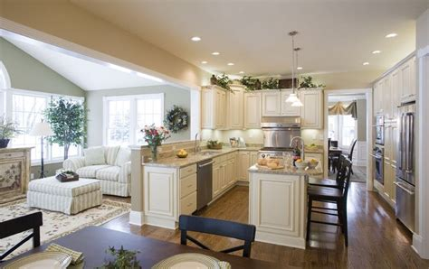 open kitchen sunroom providence home design