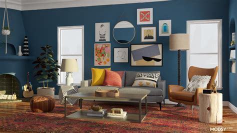 Eclectic Bold Living Room Design Eclectic Style Living