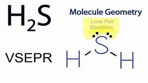 H2s Molecular Geometry    Shape And Bond Angles  Note