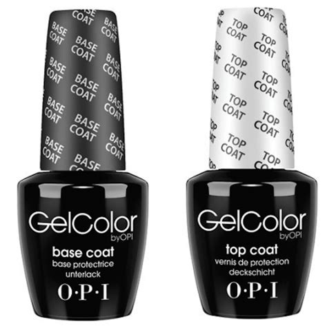 color top opi gel color top coat and base coat duo set 15ml nail