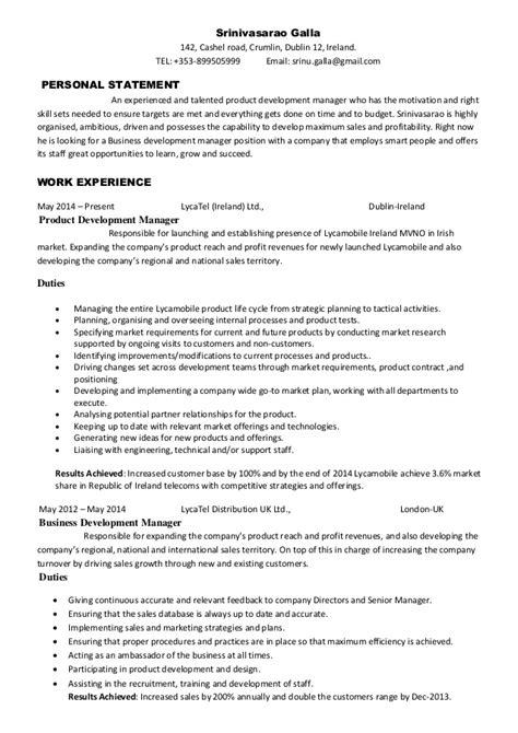 product design resumes srinivasarao galla product development manager cv