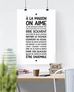 Affiche Les Regles De La Maison : affiche r gle de vie 39 la maison 39 texte t l charger affiches illustrations posters ~ Melissatoandfro.com Idées de Décoration