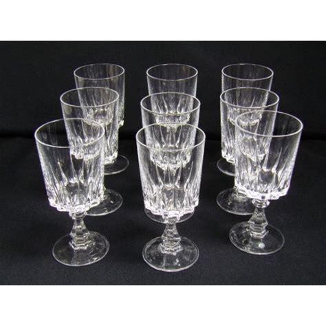 arques louvre glasses crystal wine series verre vin brocante