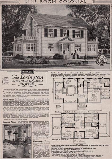 colonial revival  sears kit house classic side gable  sun room