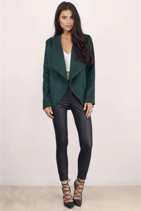 Draped Coats - green jacket draped jacket forest green jacket 24