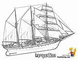 Coloring Ship Ships Tall Kleurplaat Boot Drawing Boats Line Barquentine Colouring Sailing Colorare Disegni Nave Boys Kleurplaten Paper Voeg Zelf sketch template