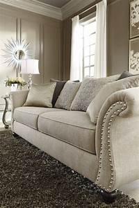 Image, Result, For, Ashley, U0026, 39, S, Furniture, Beige, Sofa