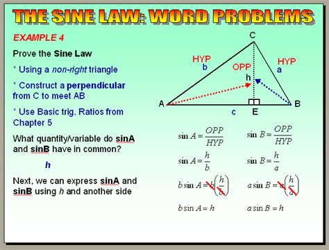 Chapter 64  The Sine Law (word Problems