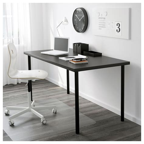 ikea linnmon desk adils linnmon table black brown black 150x75 cm ikea