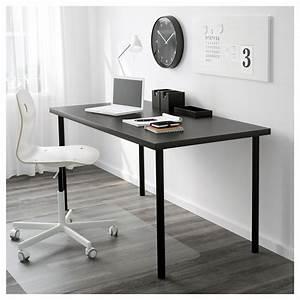 Ikea Tischplatte Linnmon : linnmon table top black brown 150 x 75 cm ikea ~ Eleganceandgraceweddings.com Haus und Dekorationen