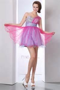 Cute Colorful Mini One Shoulder Cocktail Dresses