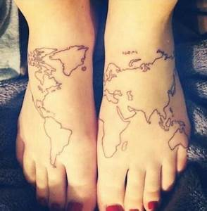 World Map Tattoo Designs, Ideas and Meaning   Tattoos For You