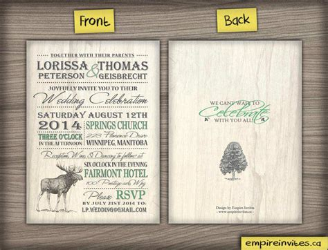 Unique Wedding Invitations Canada