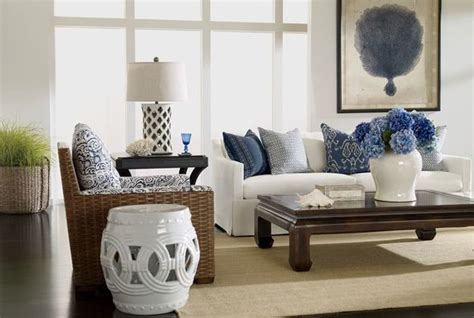 Pottery Barn Table Lamps Glass by Ethan Allen Coastal Elegance Beach Style Living