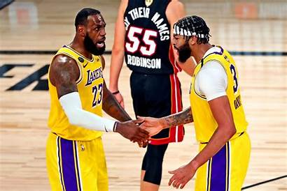 Lakers Angeles Nba Derrick Davis Lebron Anthony