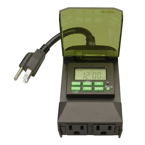 woods outdoor 7 day digital outlet timer 50014 the home