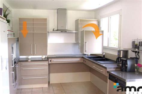 hauteur placard cuisine meubles hauts hauteur variable with hauteur