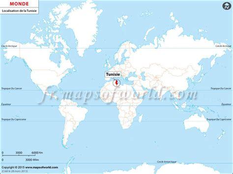 Carte Du Monde Tunisie by Info Tunisie Carte Du Monde
