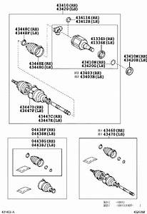 Toyota Fj Cruiser Cv Joint Kit  Left  Right  Front   Shaft  Drive Outboard Joint