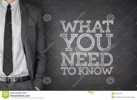 What You Need To Know On Blackboard Stock Photo  Image Of