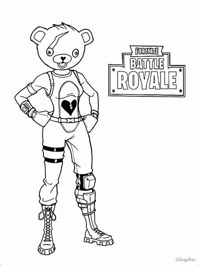 Coloring Battle Fortnite Pages Printable Royale Drift