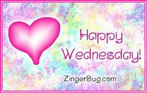Happy Wednesday Pink Plaque Glitter Graphic, Greeting ...