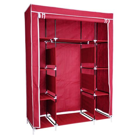 Portable Closet Rack by 67 Quot Portable Closet Storage Shelves Colthes Fabric