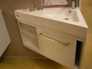 Colonne D Angle Salle De Bain : meuble vasque d 39 angle salle de bain ~ Teatrodelosmanantiales.com Idées de Décoration